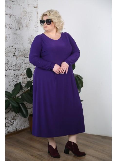 000bef36e83 Женское коктейльное платье Марианна цвет фиолетовый 48-74   для полных  женщин - АЛЛО МОДА