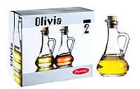 """Набор бутылочек 260 мл для масла, уксуса """"Olivia 80108-2"""" 2 шт. Pasabache."""