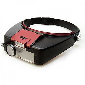 Бинокуляры (бинокулярная лупа) MG81007A с Led подсветкой (увеличение 1,5х 3x 8,5х 10х), фото 2