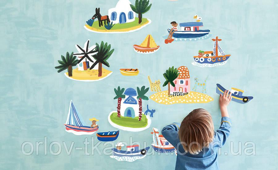 Настінні наклейки в дитячу Island Hopping Picturebook Villa Nova