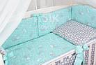 Комплект постельного белья Asik Серые и белые зайчики на мятном 8 предметов (8-294), фото 2