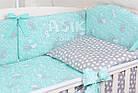Комплект постельного белья Asik Серые и белые зайчики на мятном 8 предметов (8-294), фото 3