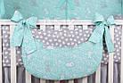 Комплект постільної білизни Asik Сірі і білі зайчики на м'ятному 8 предметів (8-294), фото 5