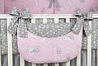 """Комплект постельного белья Asik """"Серые зайчики на розовом"""" 8 предметов (8-293), фото 6"""
