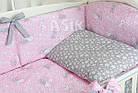 """Комплект постельного белья Asik """"Серые зайчики на розовом"""" 8 предметов (8-293), фото 4"""