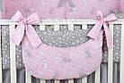 """Комплект постельного белья Asik """"Серые зайчики на розовом"""" 8 предметов (8-293), фото 7"""