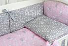 """Комплект постельного белья Asik """"Серые зайчики на розовом"""" 8 предметов (8-293), фото 9"""
