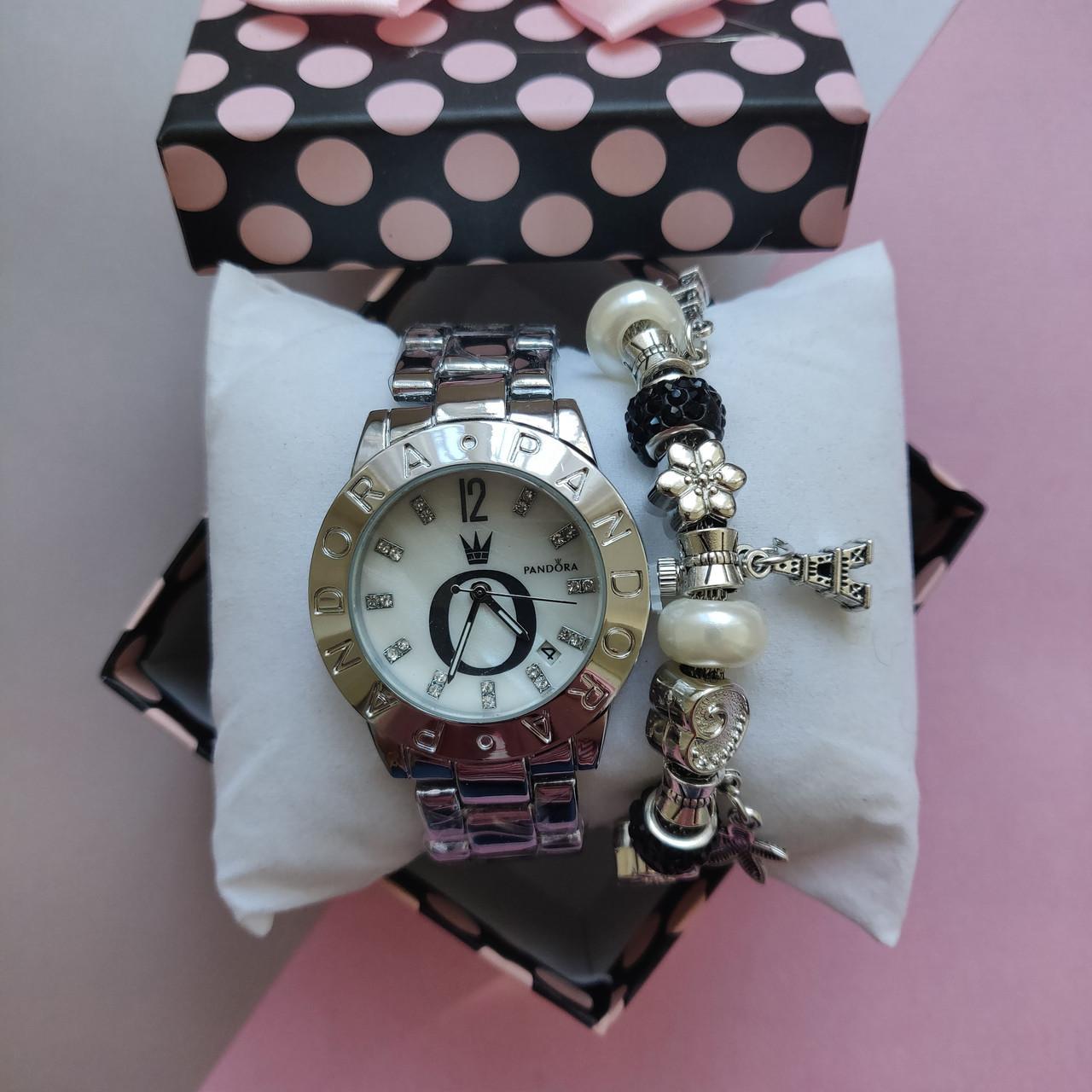 набор пандора часы Pandora и браслет в подарочной коробке продажа