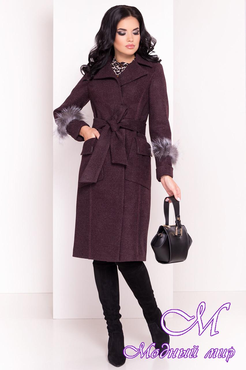 Женское демисезонное пальто ниже колена (р. S, M, L) арт. Стейси 5471 - 36821