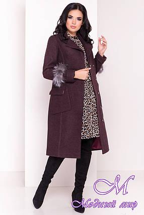 Женское демисезонное пальто ниже колена (р. S, M, L) арт. Стейси 5471 - 36821, фото 2