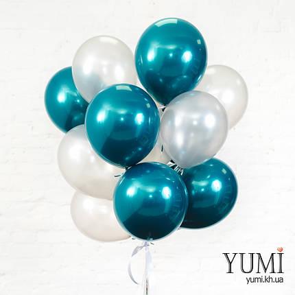 Связка из 15 воздушных шариков с гелием, фото 2