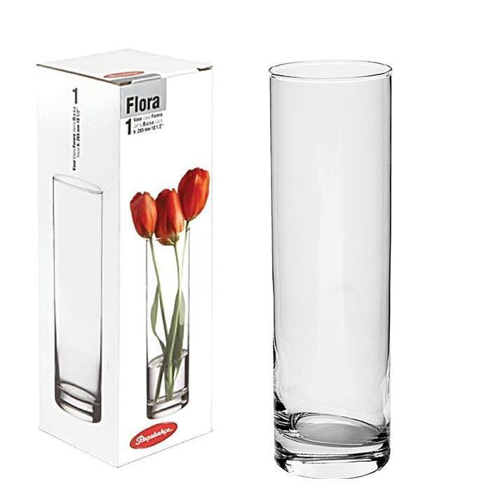 Ваза стеклянная цилиндр 265 мм