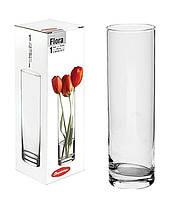 "Ваза стеклянная цилиндр 265 мм ""Flora  43767"" Pasabache. ."