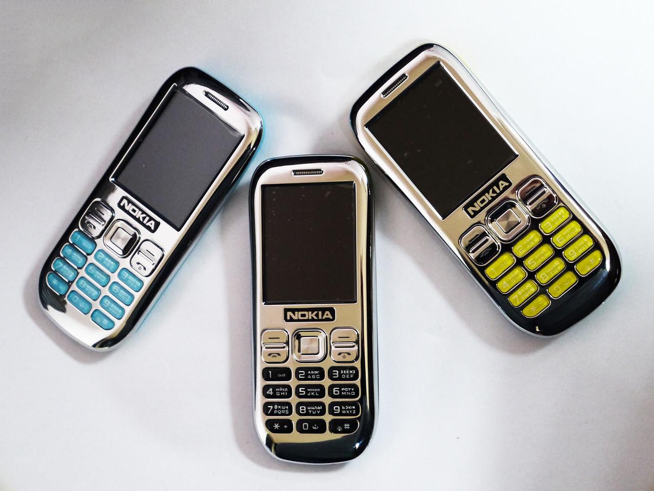 "Телефон Nokia Asha 101 - 2Sim+2,2""+Camera+Bluteoth+FM+Метал корпус"