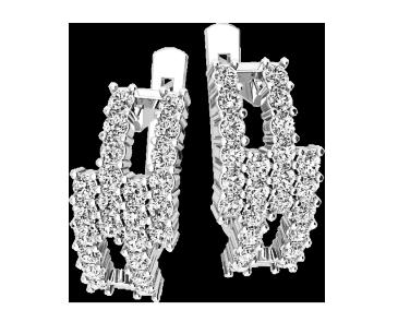Серьги серебряные Бриллиантовые полосы 41108