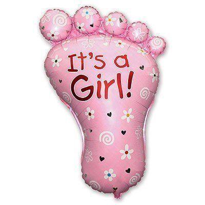 Куля П'яточка малюка рожева 96х67 см з гелієм