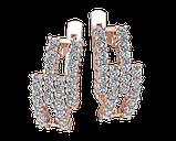 Серьги серебряные Бриллиантовые полосы 41108, фото 2
