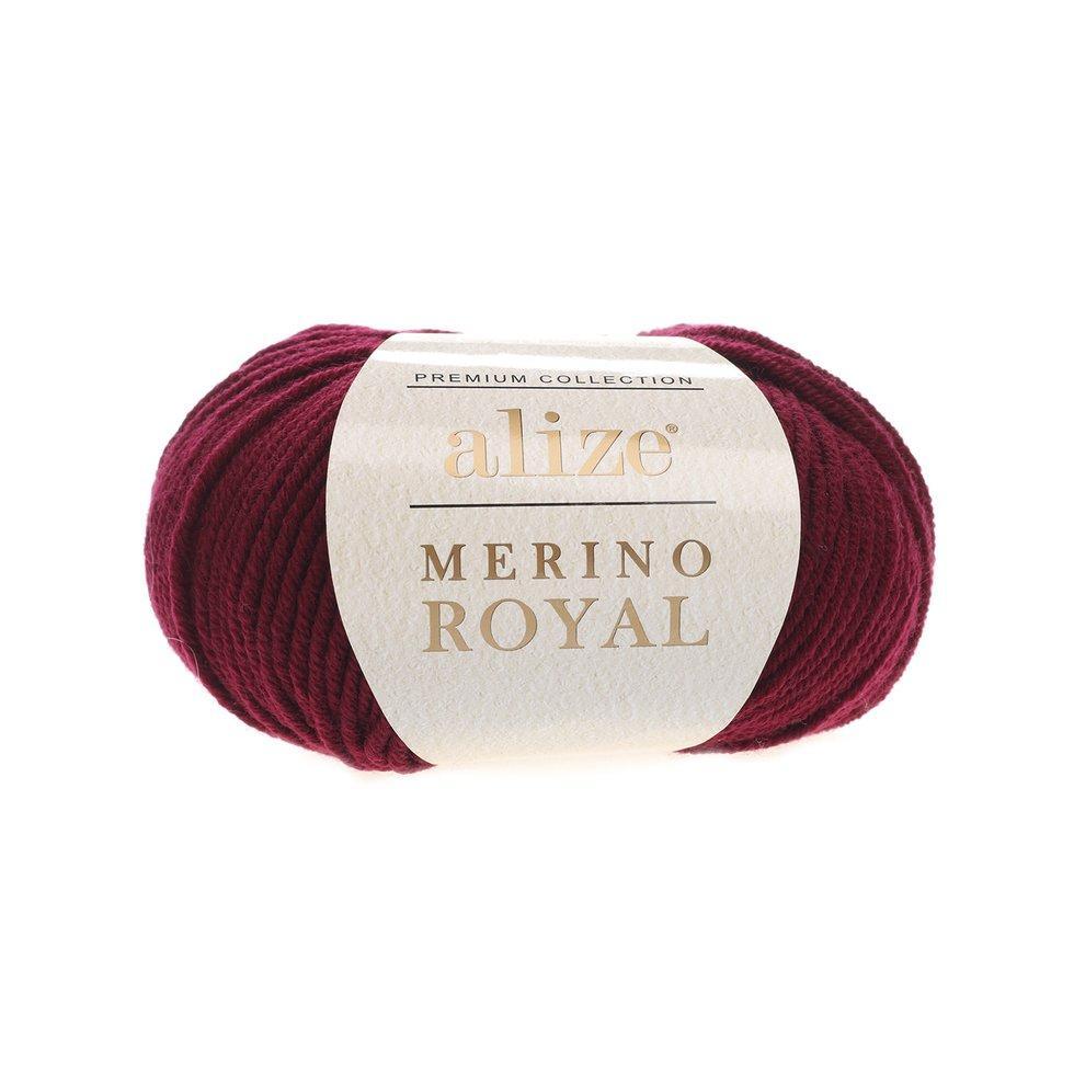 Пряжа Мерино рояль Merino royal Ализе, № 323, винный
