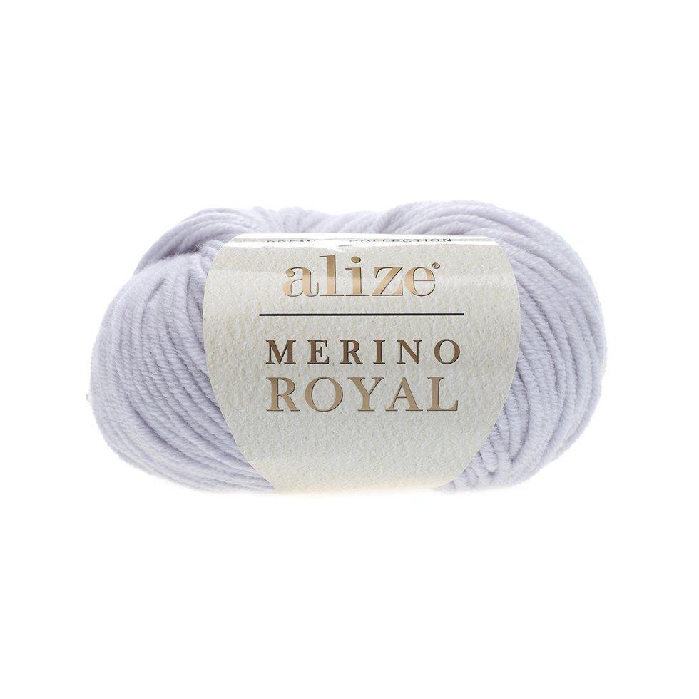Пряжа Мерино рояль Merino royal Ализе, № 362,  св. серый