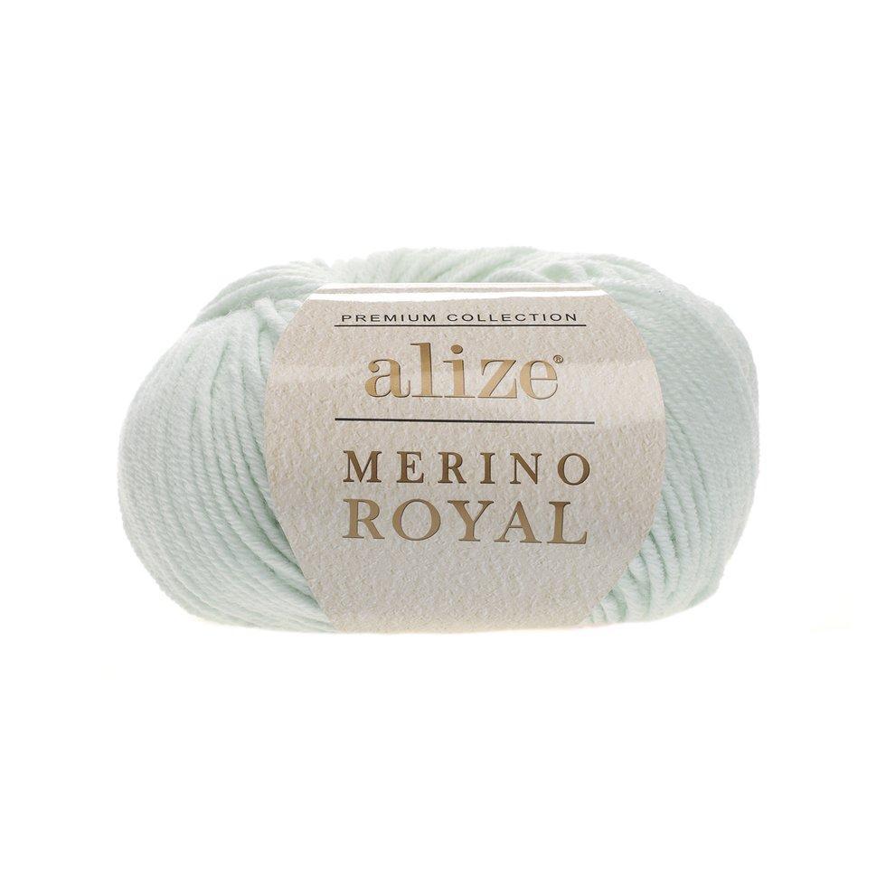 Пряжа Мерино рояль Merino royal Ализе, № 522, мята
