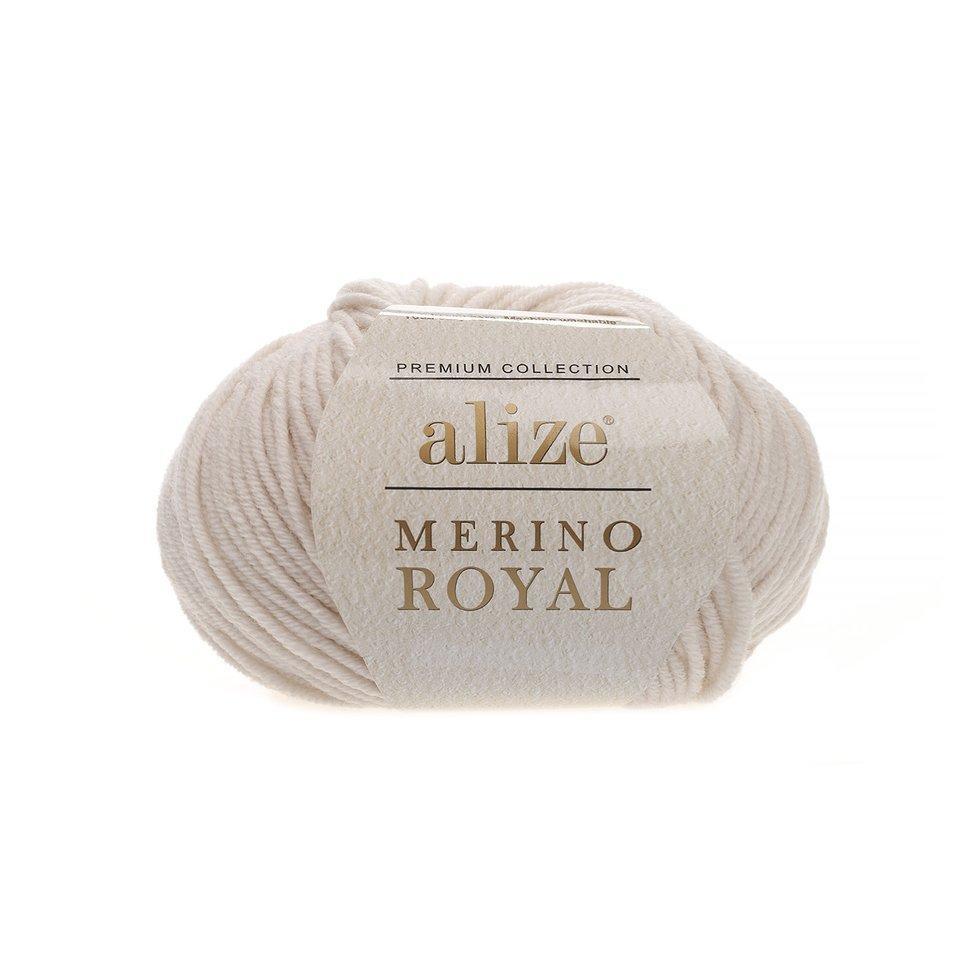 Пряжа Мерино рояль Merino royal Ализе, № 67, слоновая кость