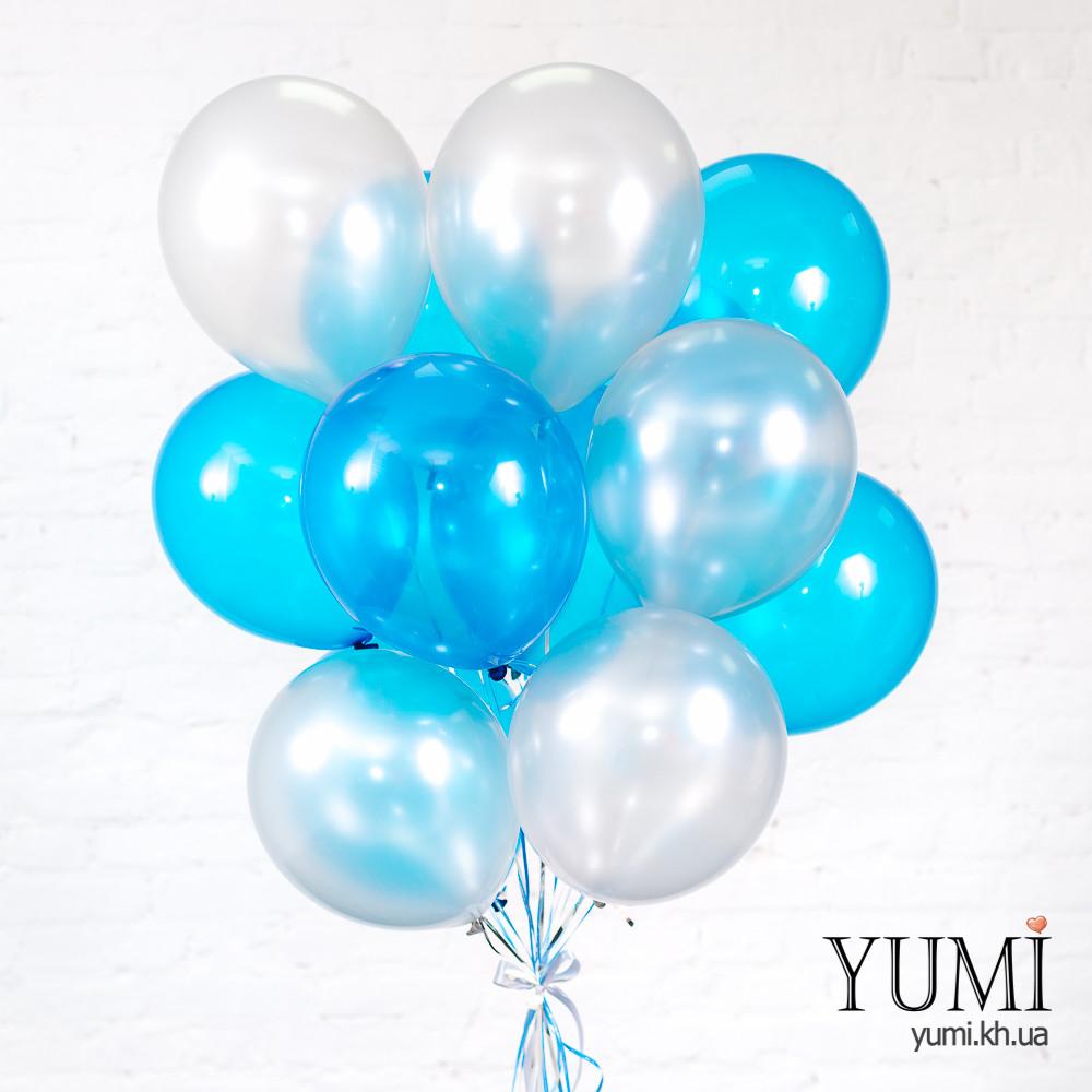 Связка из 15 воздушных шариков