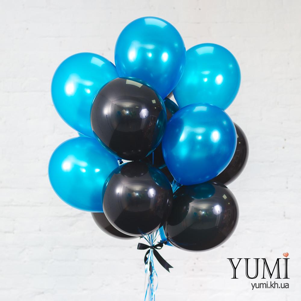 Связка для мужчины из 15 шаров с гелием