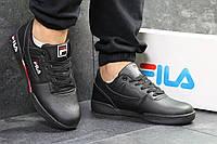 Мужские кроссовки черные с красным Fila РП-6331, фото 1