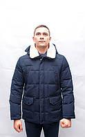 Мужская зимняя куртка пуховик пальто пиджак  короткая батал большого размера