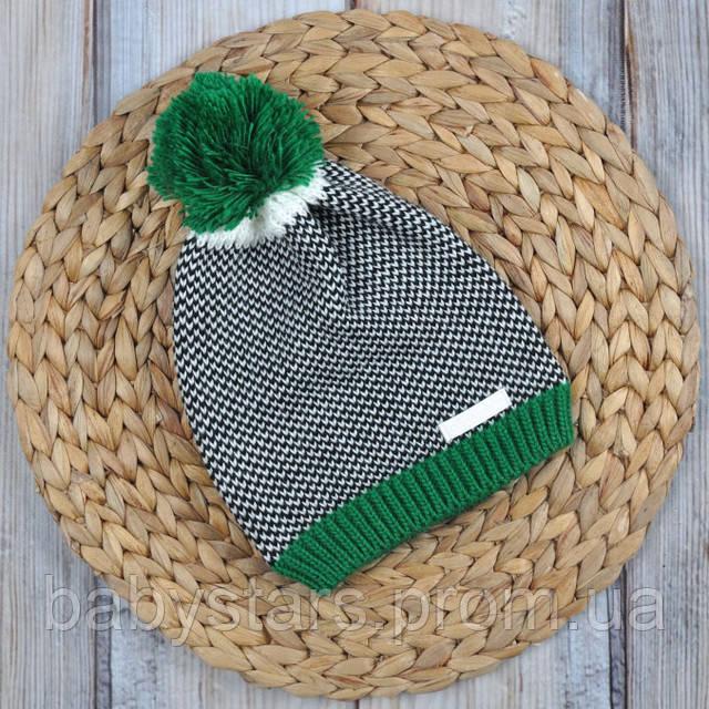 """Вязаная шапочка """"Ray"""", зеленая"""