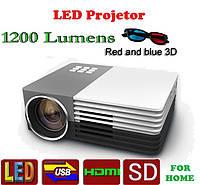 Проектор LED SMT-3 1200lm + 3d
