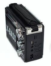 Радиоприёмник с USB NNS NS-1371U с фонариком портативный крутой стильный