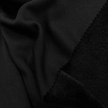 Трикотаж на меху черный, фото 2