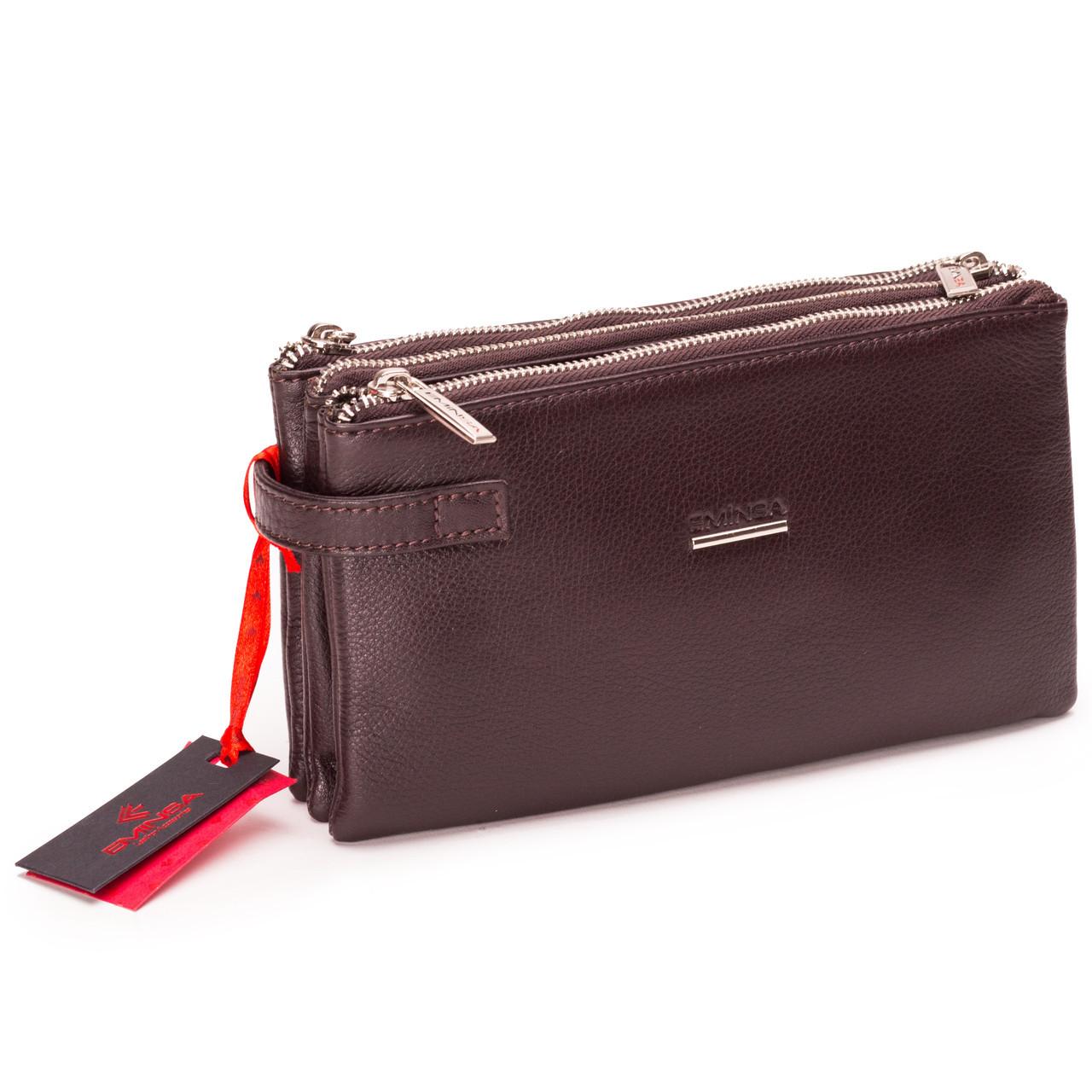 9f4776071f22 Мужская сумка барсетка кожаная коричневая Eminsa 5095 12-3  2 535 ...