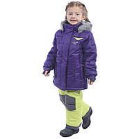 Зимний термокостюм для девочки 4-12 лет р. 104-152 (куртка, брюки, манишка) ТМ PerlimPinpin VH255A