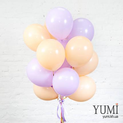 Нежная связка из 15 гелиевых шаров на подарок для мамы, фото 2