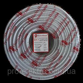 EH-1 Телевизионный (коаксиальный) кабель RG-6U 32% ССS 1,02 Al 32 алюминиевых  жилы ПВХ/белый
