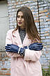 Женские кожаные перчатки синие Большие WP-16102s3, фото 6