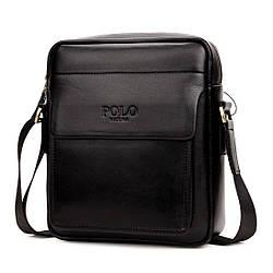 Мужская сумка мессенджер, барсетка через плечо V8809 черная