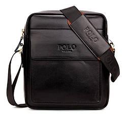 Мужская сумка через плечо, мессенджер Polo Vicuna V8809 черная