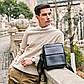 Мужская сумка мессенджер, барсетка через плечо V8809 черная, фото 7