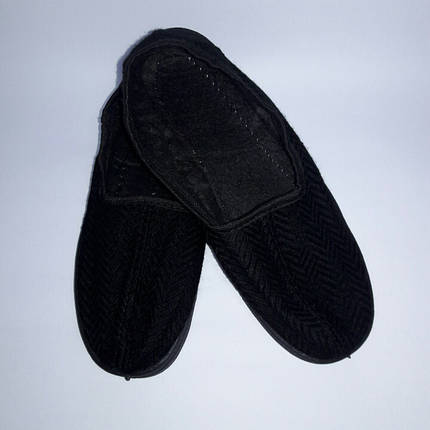 Тапочки комнатные DV мужские Елка черные р-ры 41, 44, 45, фото 2