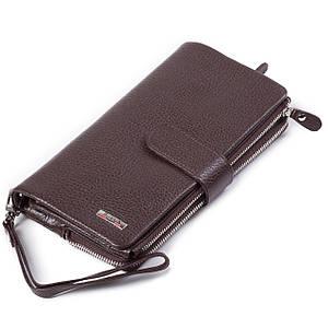 Мужской кошелек-клатч кожаный коричневый BUTUN 022-004-004