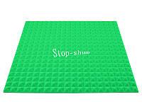 Акустический поролон «Пирамида 20» 1*1 м. Зелёный.