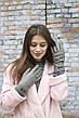 Женские кожаные перчатки Серые Маленькие WP-16103s1, фото 5