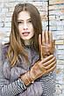 Женские кожаные Коричневые перчатки Shust Средние LYNN-1692s2, фото 4