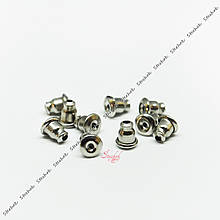 Металлические заглушки для пусет 6х5мм платина конусной формы из нержавеющей стали для рукоделия