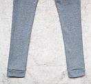 Теплый женский спортивный костюм трехнитка на флисе L-ка серый меланж, фото 5