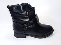Женские модные зимние ботинки из экокожи, фото 1