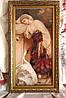 """Картина вишита півхрестиком """"Дівчина і лебідь"""" ручної роботи, фото 4"""